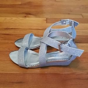 Rampage strappy sandals with sparke and shine